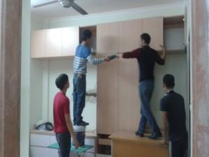 Thiết kế và thi công nội thất biệt thự nhà anh Học