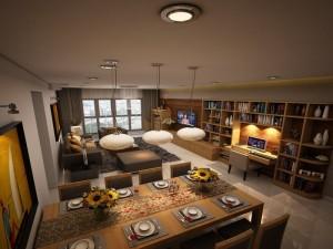 Thiết kế và thi công nội thất chung cư nhà chị Huyền