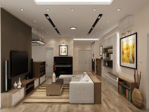 Thiết kế và thi công nội thất chung cư nhà chị Trà