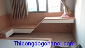 Thi công đồ gỗ nội thất nhà chị Hoa