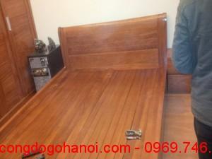 Giường ngủ cao cấp gỗ tự nhiên GN03
