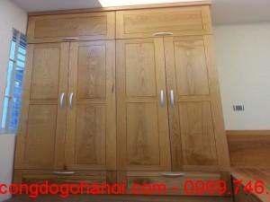 Tủ áo gỗ sồi đẹp TA04