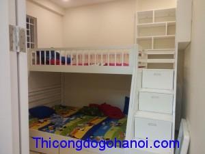 Giường tầng đẹp cho phòng 2 bé GTE05
