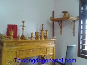 Phòng thờ gỗ mít PT03