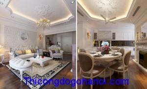 Thiết kế nội thất chung cư nhà anh Huy Mandarin Garden