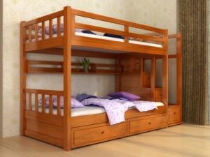 Giường tầng gỗ tự nhiên GNTE01