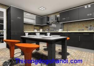 Tủ bếp  cao cấp Acrylic TB05