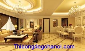 Thiết kế nội thất chung cư nhà anh Sơn Mandarin Garden HN
