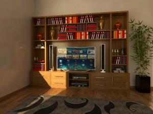 Kệ tvi kiêm tủ trang trí KTV 04