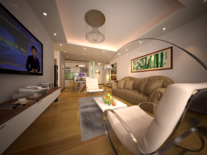 Thiết kế nội thất chung cư nhà anh Cường