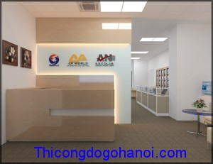 Thiết kế và thi công nội thất văn phòng công ty ANC
