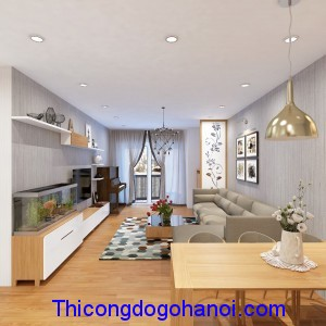 Thiết kế nội thất chung cư nhà chị Trang