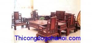 Bàn ghế cao cấp gỗ tự nhiên BG11