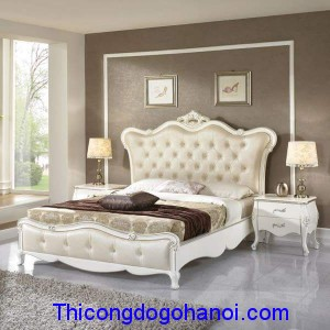 Giường ngủ cao cấp phong cách tân cổ điển GN10