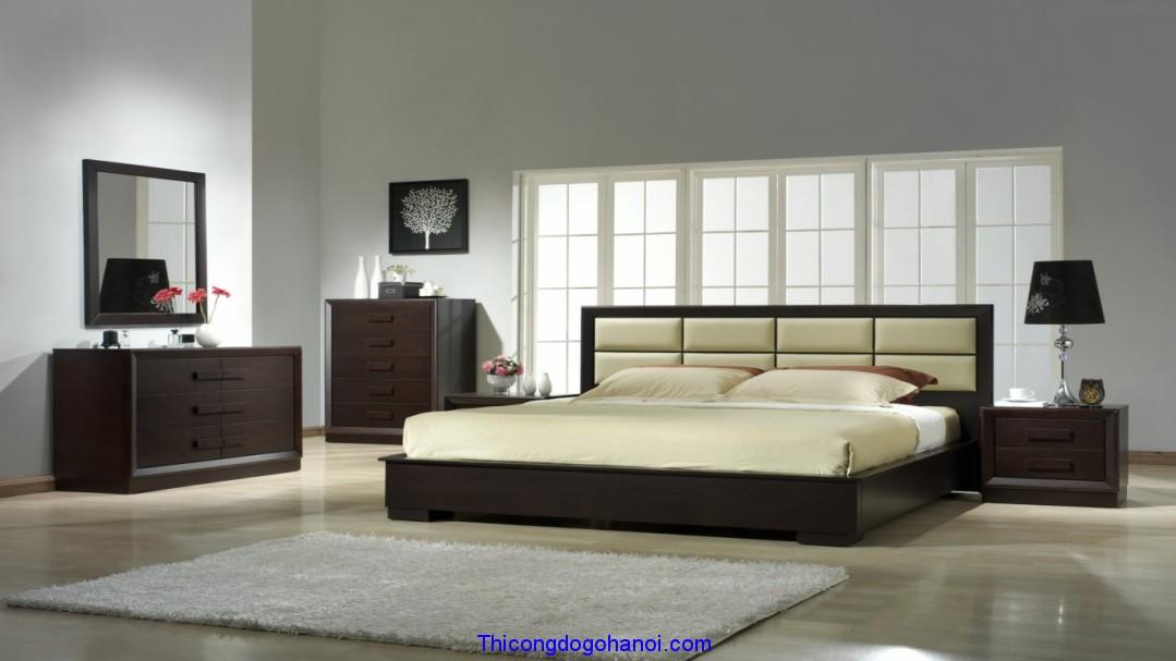 Giường ngủ bọc da đầu giường