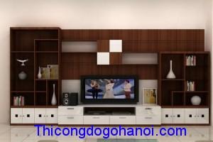 Kệ tivi kiêm tủ trang trí phòng khách KTV12