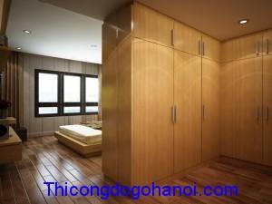 Tủ áo hình L che phòng vệ sinh TA12