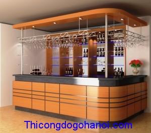 Quầy bar và tủ rượu đẹp QB04