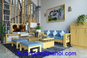 SoFa gỗ cho phòng khách hẹp BG10