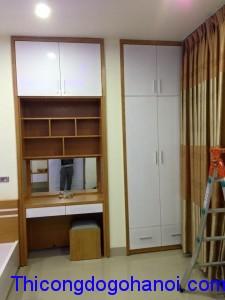 Tủ áo âm tường gỗ công nghiệp TA10