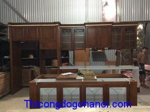 Tủ bếp cao cấp gỗ Hương TB12