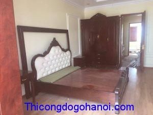 Thi công nội thất cao cấp gỗ tự nhiên  nhà chị Thoa Quảng Ninh