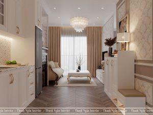 Thiết kế căn hộ 2 phòng ngủ theo phong cách tân cổ điển tại Vinhomes Smart City