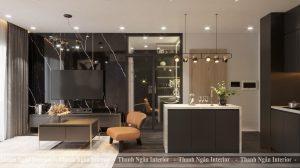 Thiết kế căn hộ 1+1 mang phong cách hiện đại Luxury tại Vinhomes Smart City
