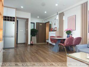 Thi công căn hộ 2 phòng ngủ tại chung cư 9T4 Kiến Hưng Hà Đông